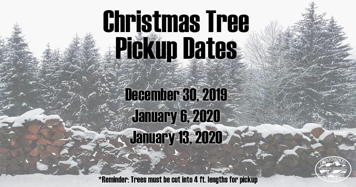 Christmas Tree Pickup Dates 2020