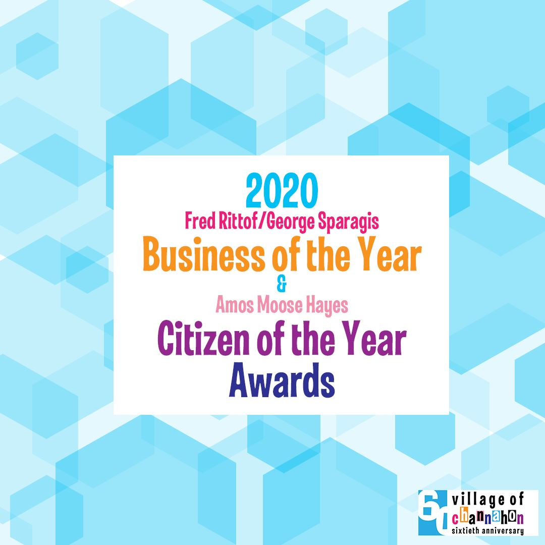 Graphic announcing opening for business of the year and citizen of the year nominations