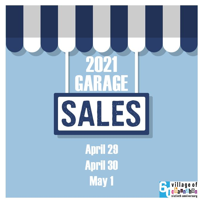 2021 Spring Garage Sales - Dates April 29-May 1