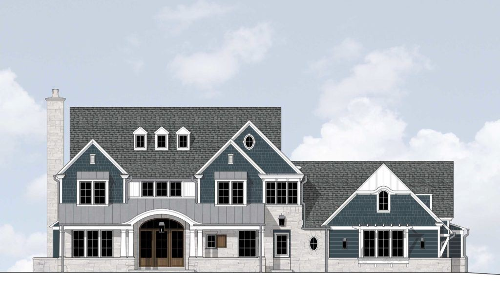 Rendering of house in Copper Leaf subdivision by Gardner Luxury Homes
